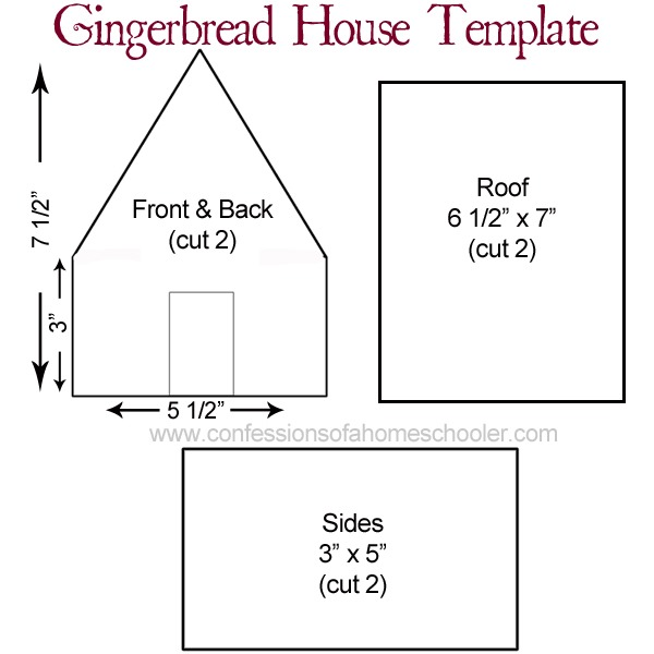 It is a picture of Enterprising Gingerbread House Templates Printable