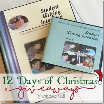 IEW Student Writing Intensive Christmas Giveaway