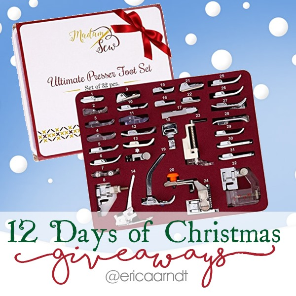 MadamSew 32 pc. Presser Foot Set Christmas Giveaway