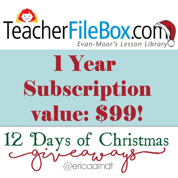 Teacher File Box 1 Year Christmas Giveaway