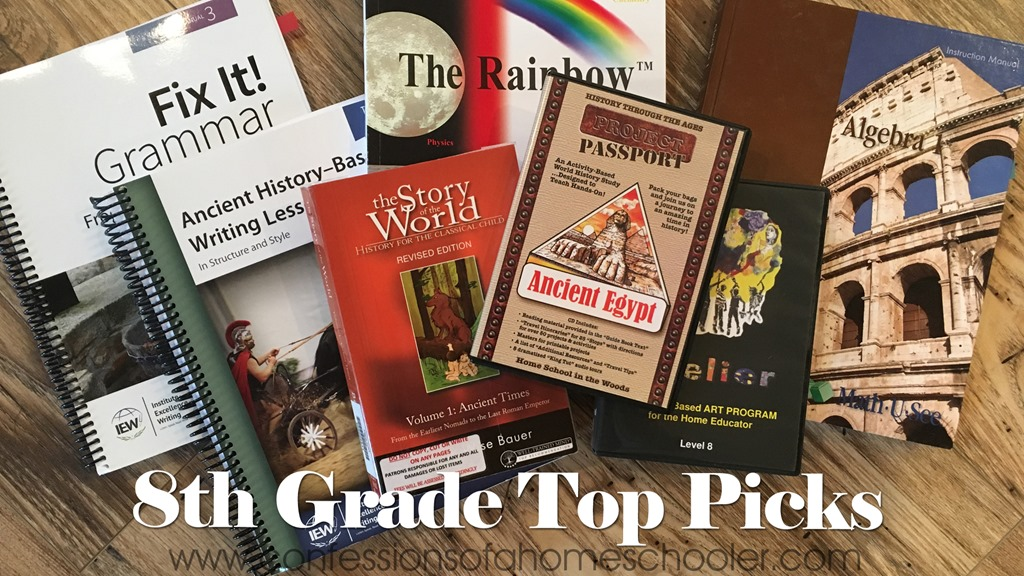 Top 8th Grade Homeschool Curriculum Picks