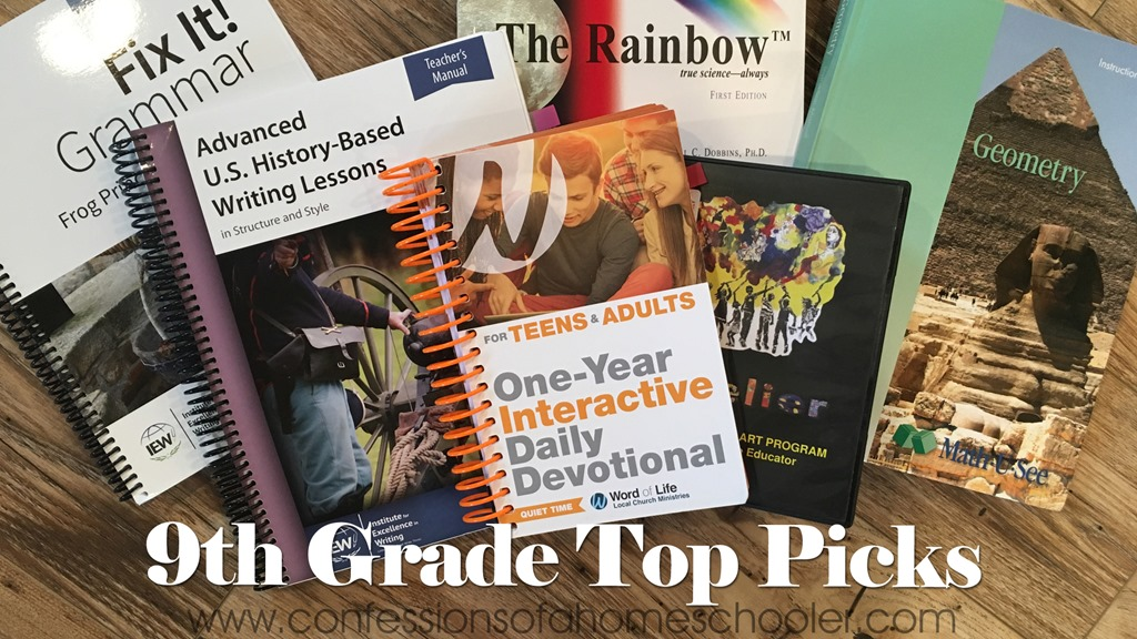 Our 9th Grade Homeschool Top Picks