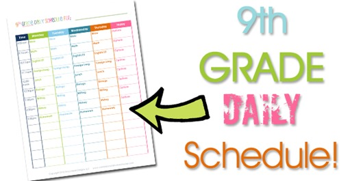 9th Grade Homeschool Daily Schedule