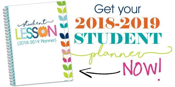 graphic relating to Free Printable Student Planner referred to as 2018-2019 Scholar Planner - Confessions of a Homeschooler