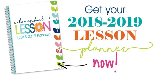 2018-2019 Homeschool Lesson Planner
