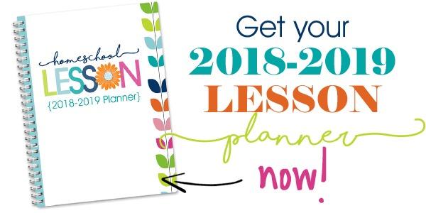 2018-2019 Homeschool Lesson Planner