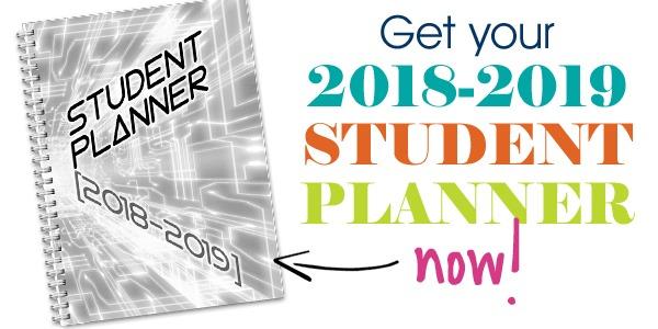 2018-2019 Student Planner (B/W)