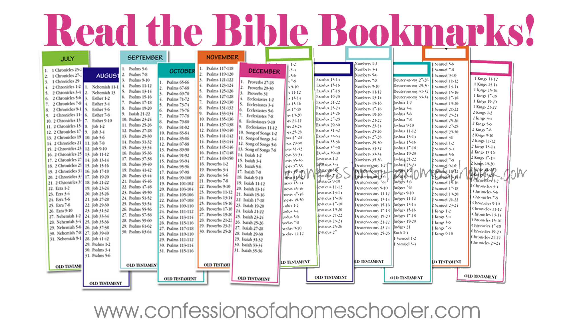 Read the Bible in Two Years Bookmarks