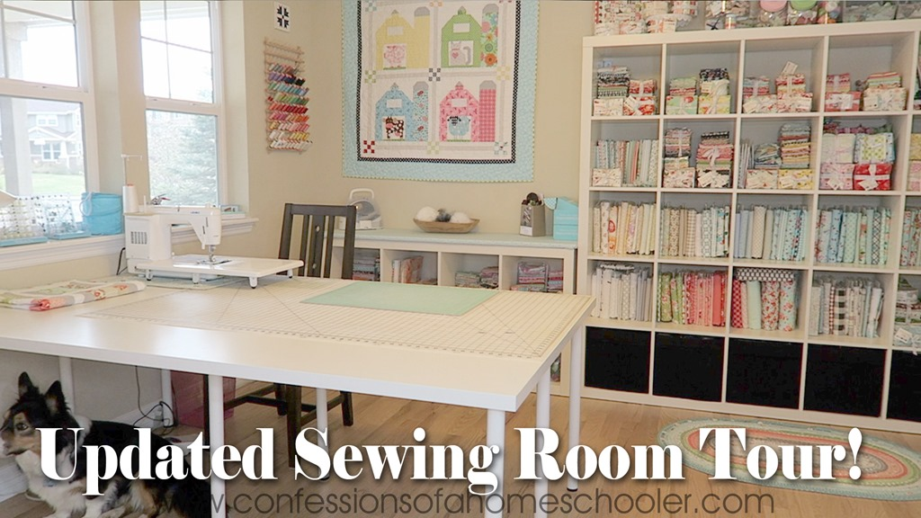 Updated Sewing Room Tour–New Floors!