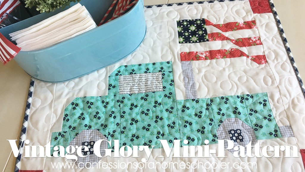 Vintage Glory Mini-Quilt Pattern