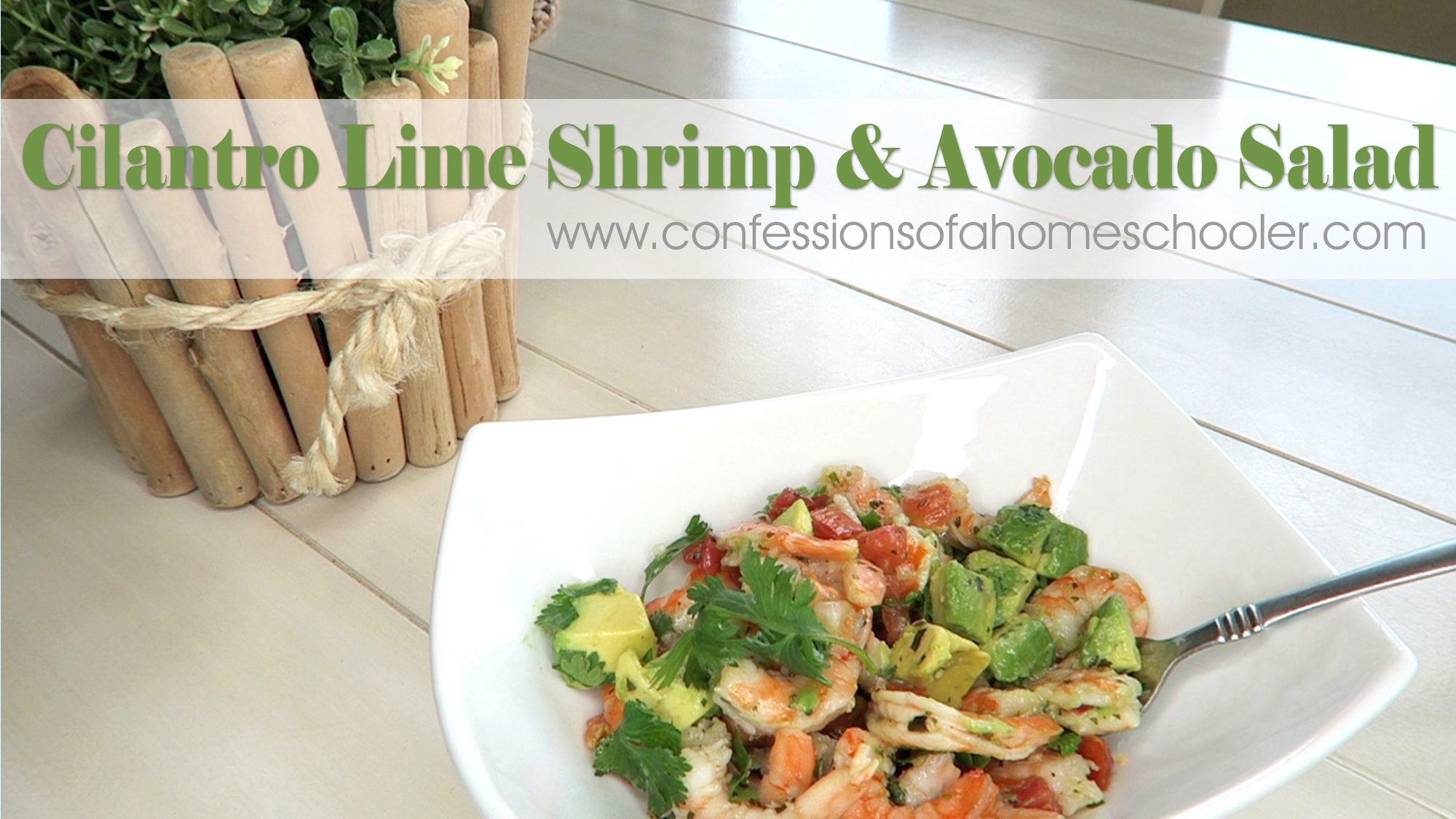Cilantro Lime Shrimp & Avocado Salad Recipe