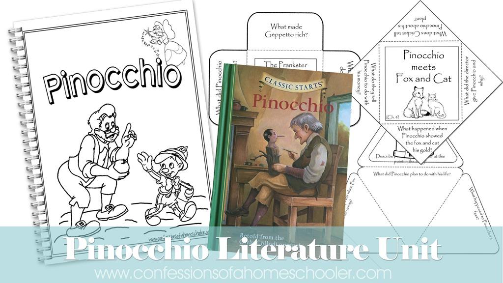 Pinocchio Literature Unit Study
