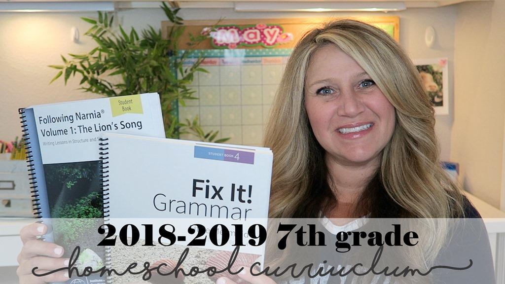2018-2019 7th Grade Homeschool Curriculum