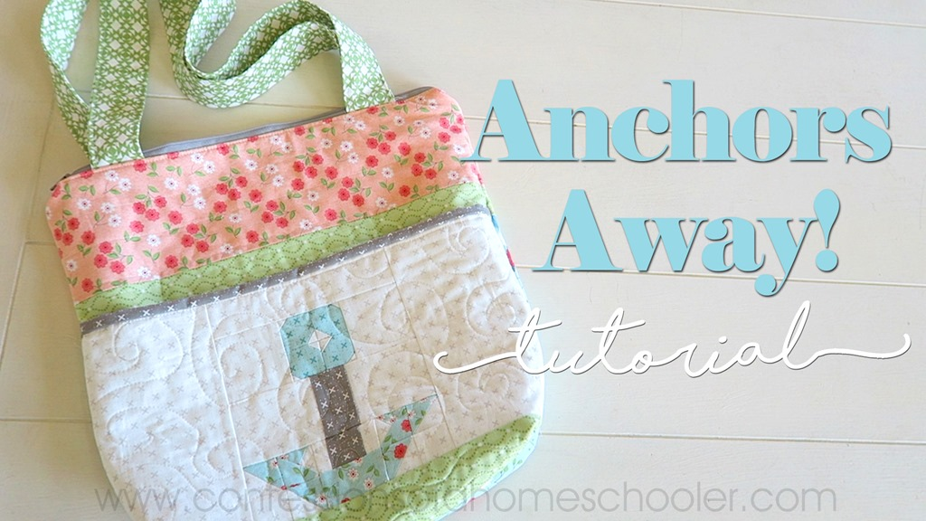 Anchors Away Zipper Tote Bag Tutorial