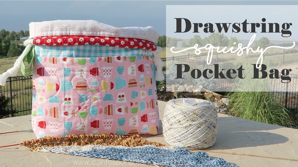 Drawstring Squishy Pocket Bag Tutorial