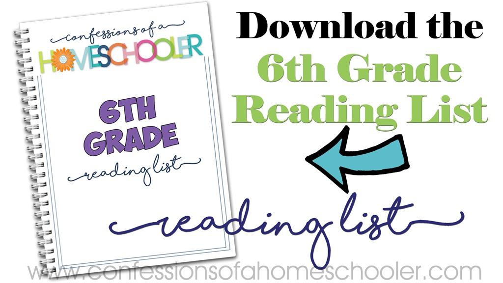 6th Grade Reading List