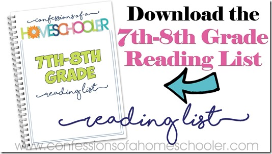 7th–8th Grade Reading List