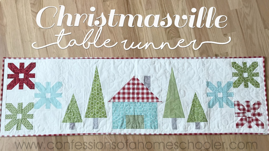 Christmasville Table Runner Pattern