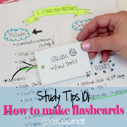 Study Tips 101: How to Make Flashcards