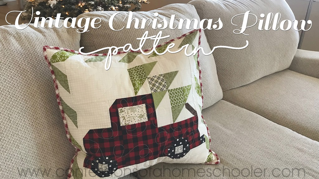 Vintage Christmas Pillow Pattern