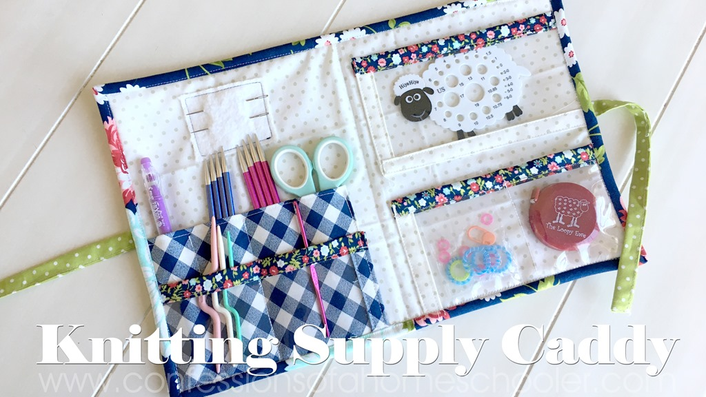 Knit Sewing Supply Caddy Tutorial