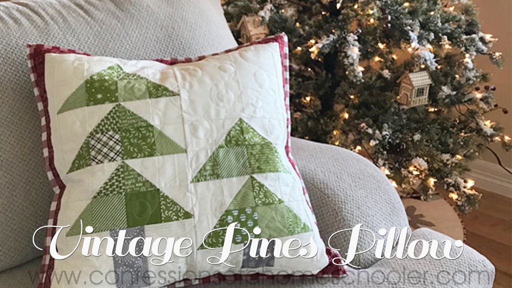 Vintage Pines Pillow Pattern