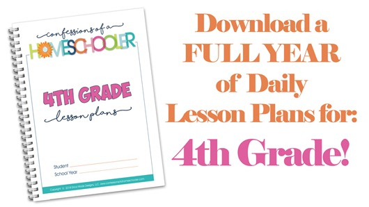 4th Grade Homeschool Lesson Plans