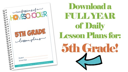 5th Grade Homeschool Lesson Plans