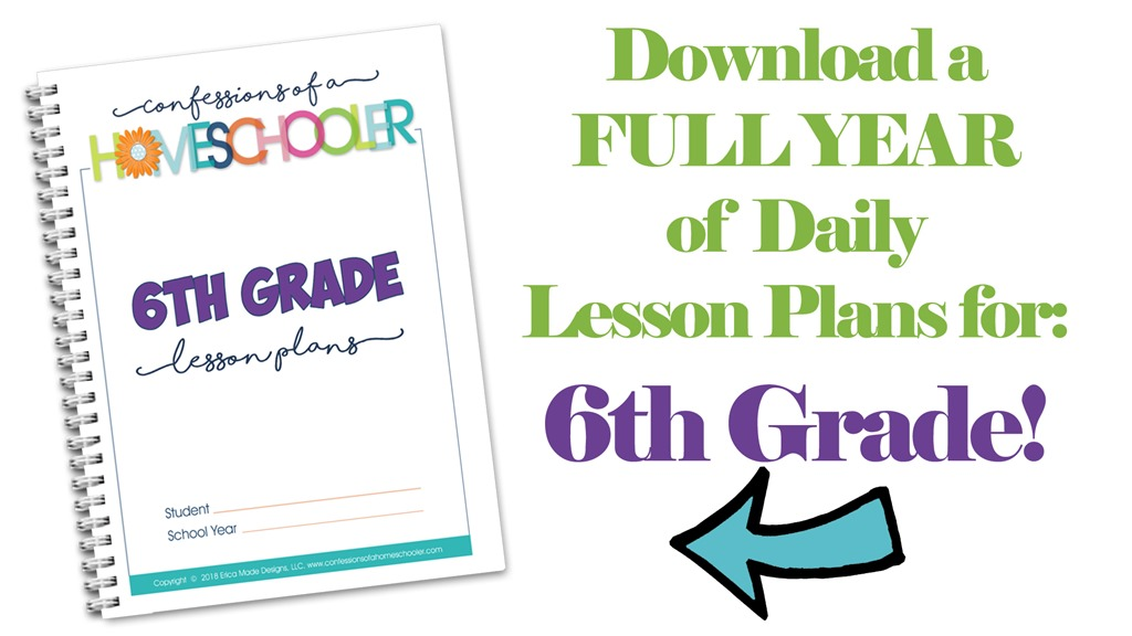 6th Grade Homeschool Lesson Plans