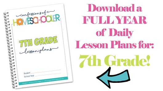 7th Grade Homeschool Lesson Plans
