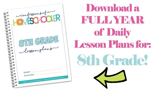 8th Grade Homeschool Lesson Plans