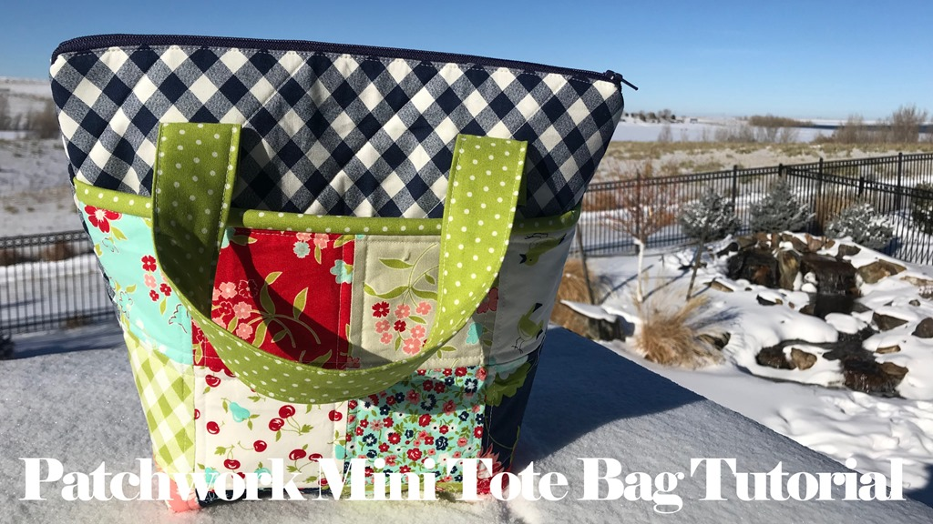 Quilted Patchwork Mini Tote Bag