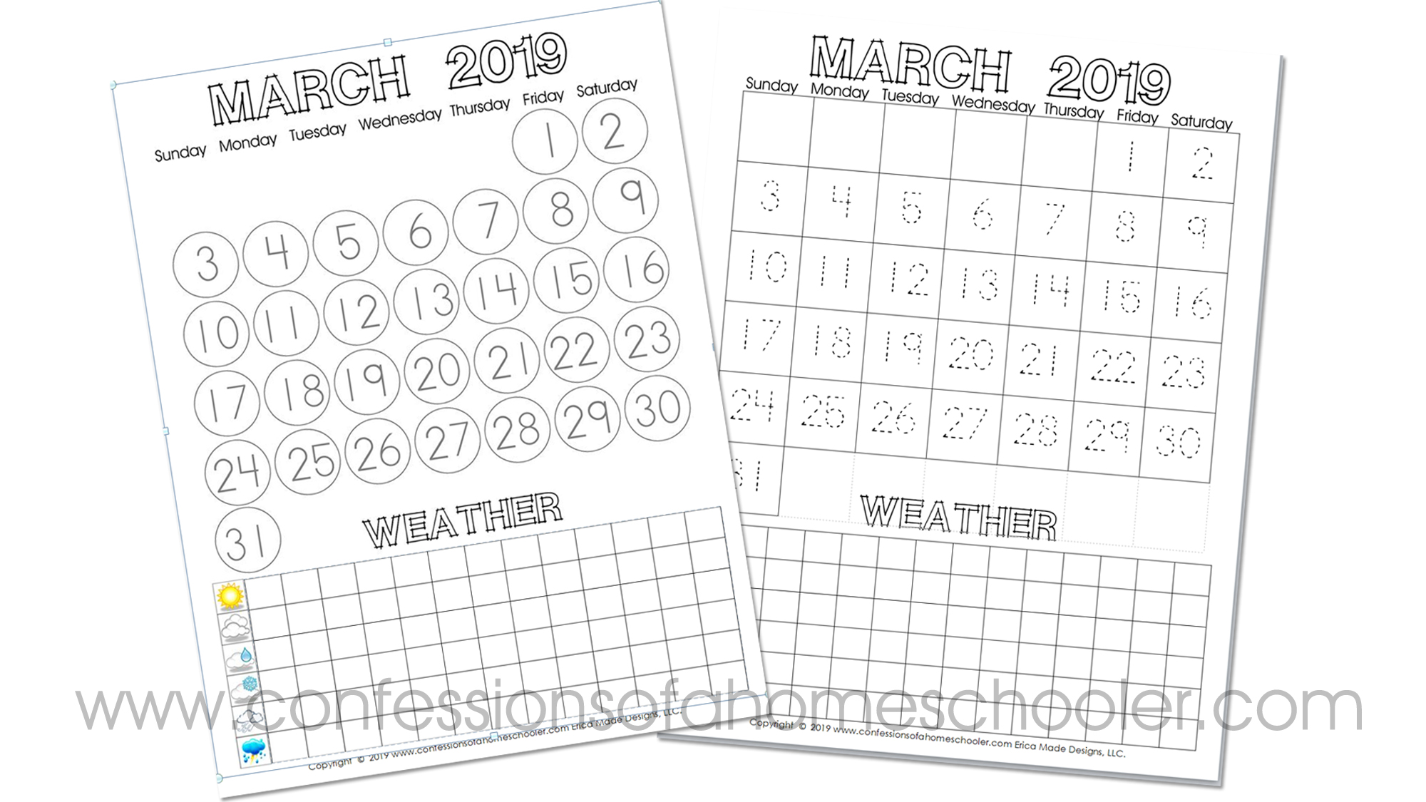 Printable Calendar March 2019.March 2019 Printable Calendar Confessions Of A Homeschooler