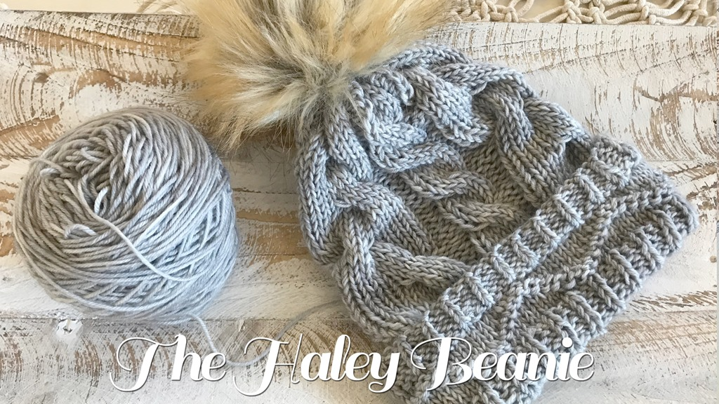 The Haley Cable Knit Beanie Pattern
