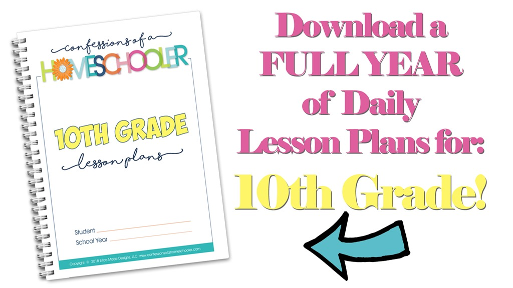 10th Grade Homeschool Lesson Plans