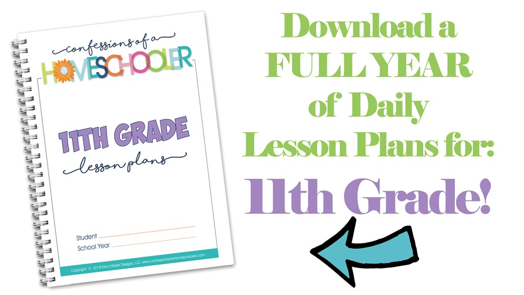 11th Grade Homeschool Lesson Plans