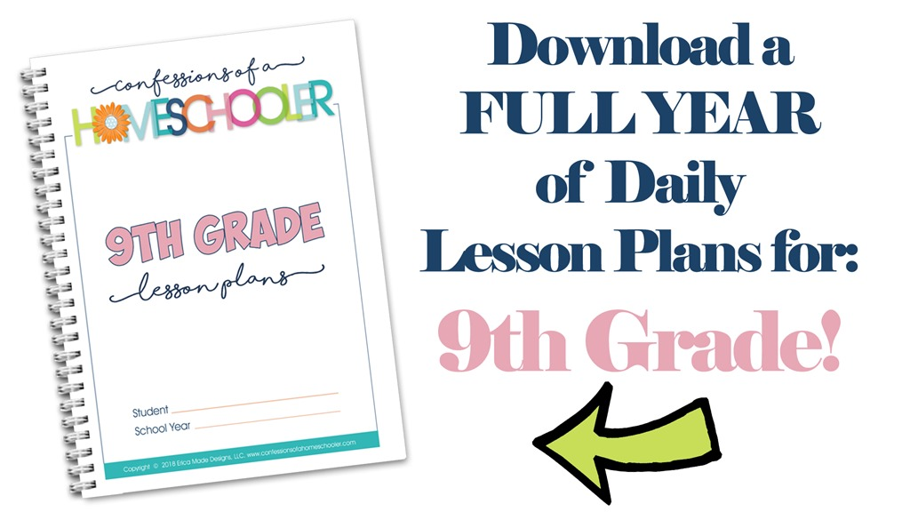 9th Grade Homeschool Lesson Plans