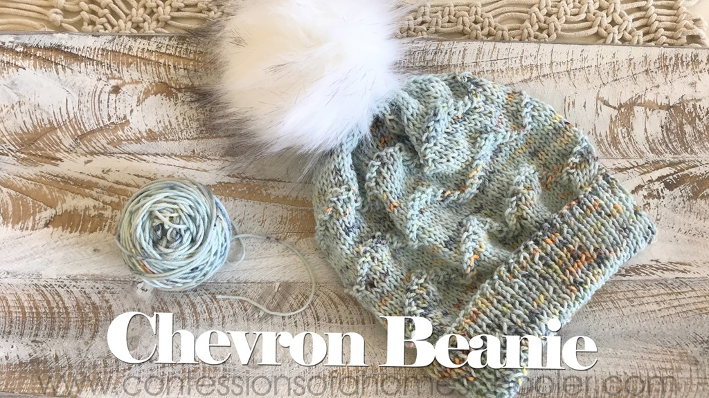 The Chevron Knit Beanie Pattern