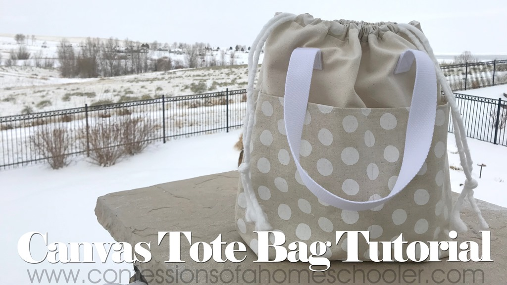 Easy Canvas Tote Bag Sewing Tutorial