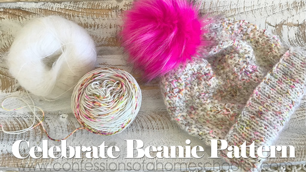 The Celebrate Beanie Knit Hat Pattern