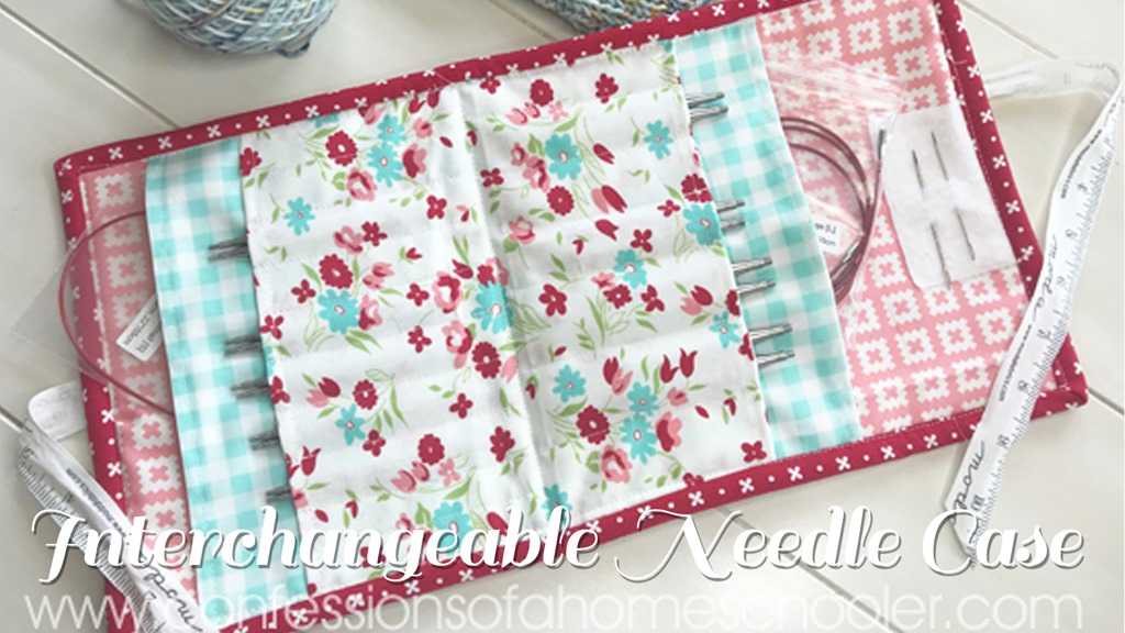 Interchangeable Knitting Needle Case // Tutorial