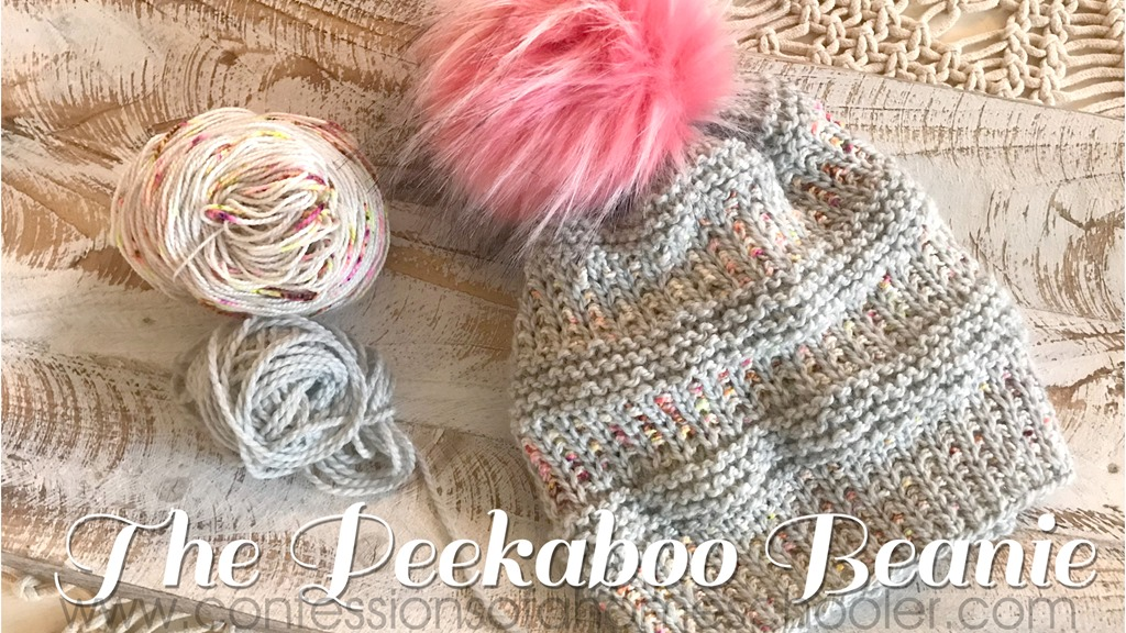 The Peekaboo Beanie Knit Hat Pattern