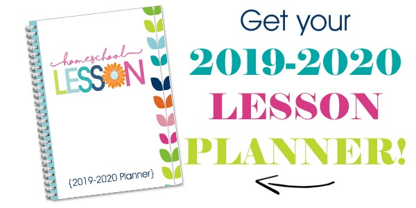 2019-2020 Homeschool Lesson Planner