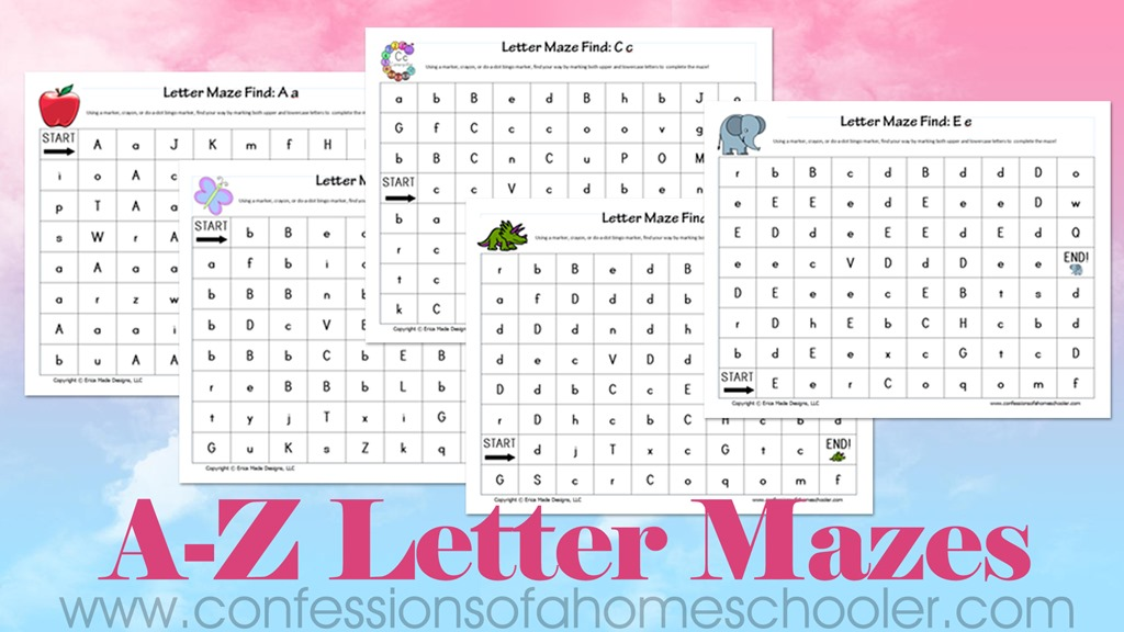 A-Z Letter Mazes Printable