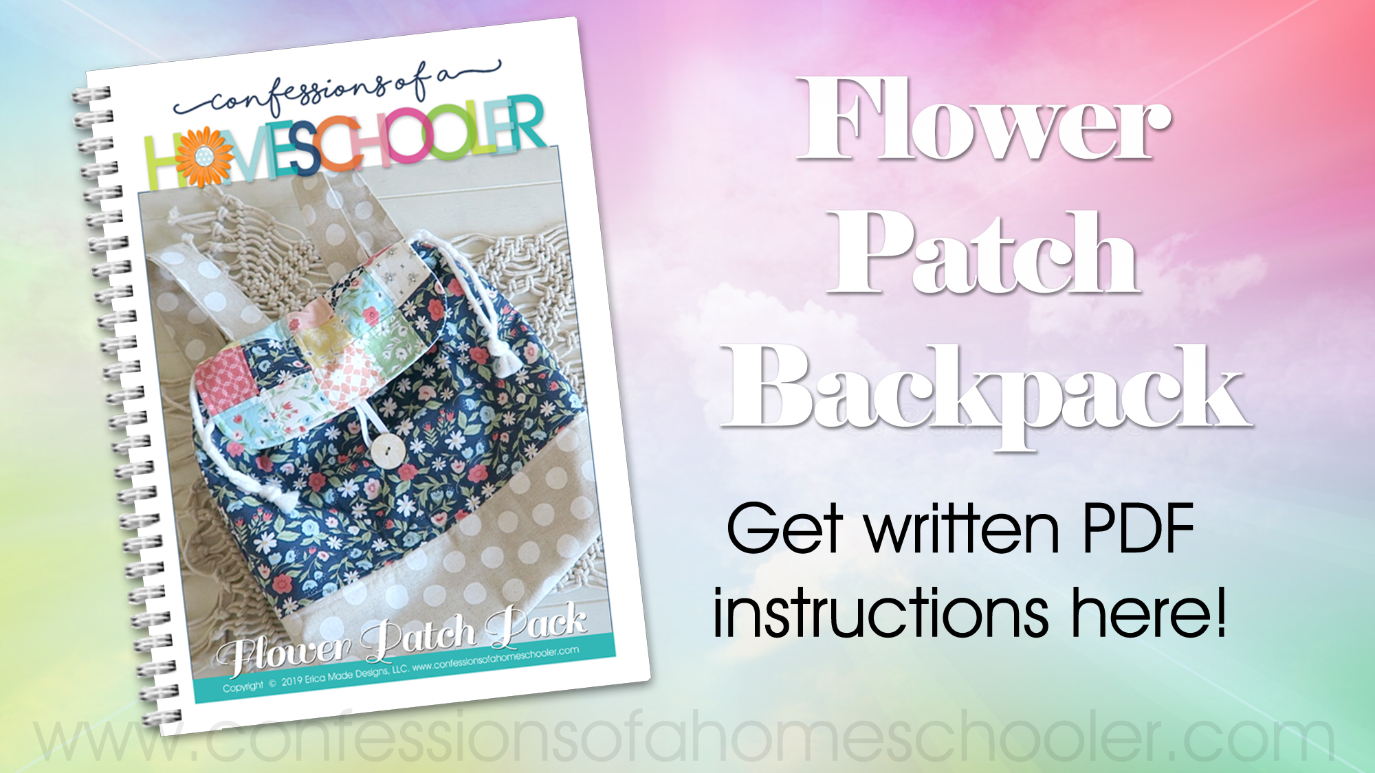 Flower Patch Back Pack Sewing Tutorial - Confessions of a
