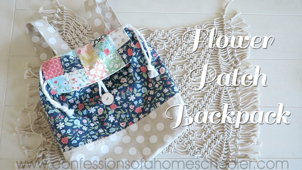 Flower Patch Back Pack Sewing Tutorial
