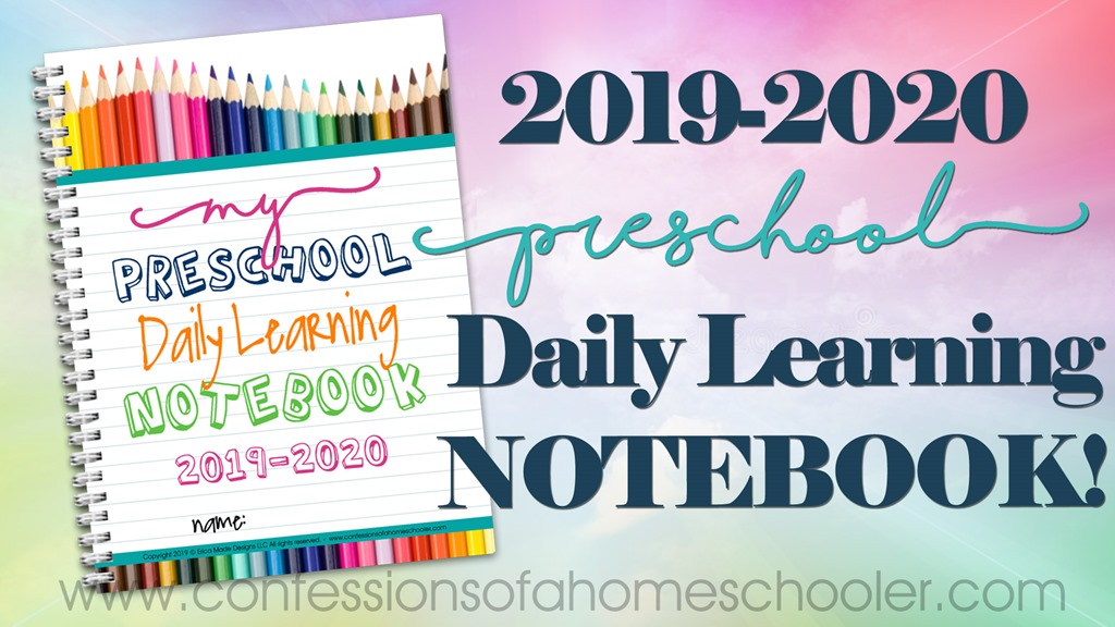 2019-2020 Preschool Daily Learning Notebook