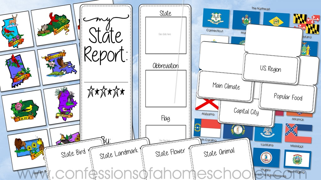U.S. State Lapbook Homeschool