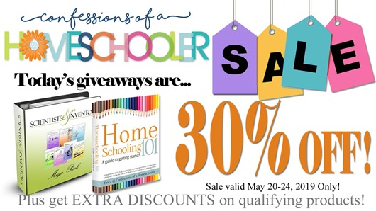 Day 1: Homeschool Curriculum Sale & GIVEAWAYS!!