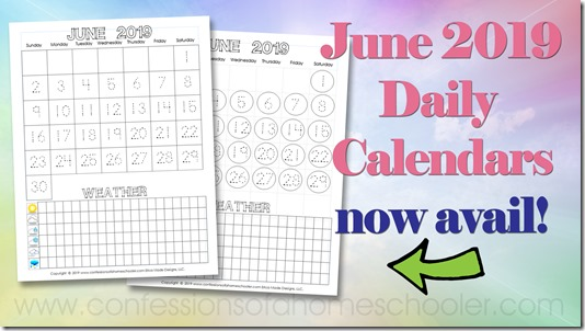 June 2019 Monthly Calendar Download